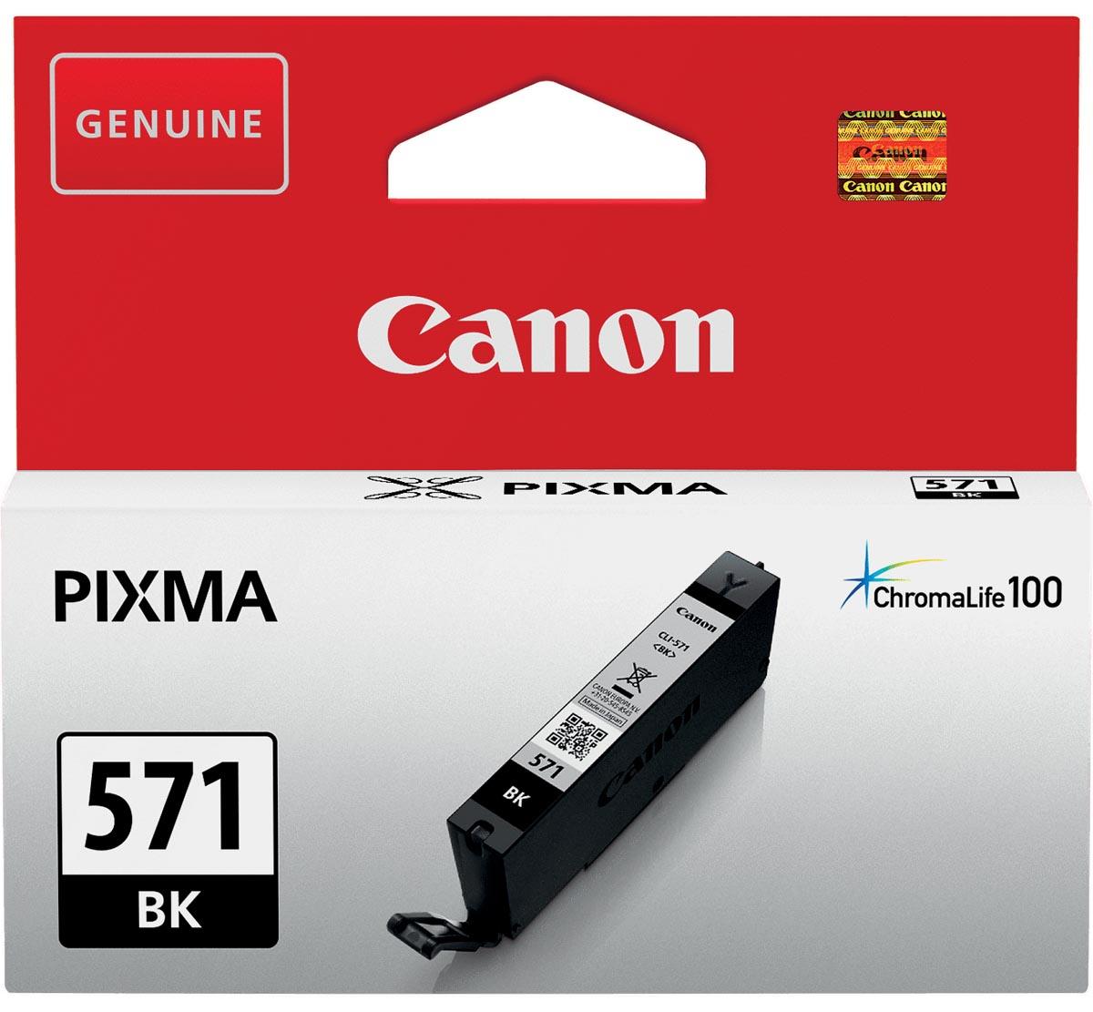 Canon inktcartridge CLI-571Z, 1.800 pagina's, OEM 0385C001, zwart