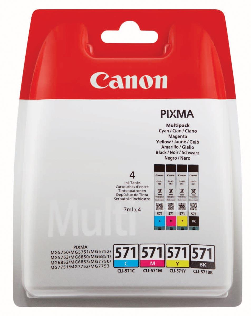 Canon inktcartridge CLI-571, 345 pagina's, OEM 0386C004, 4 kleuren