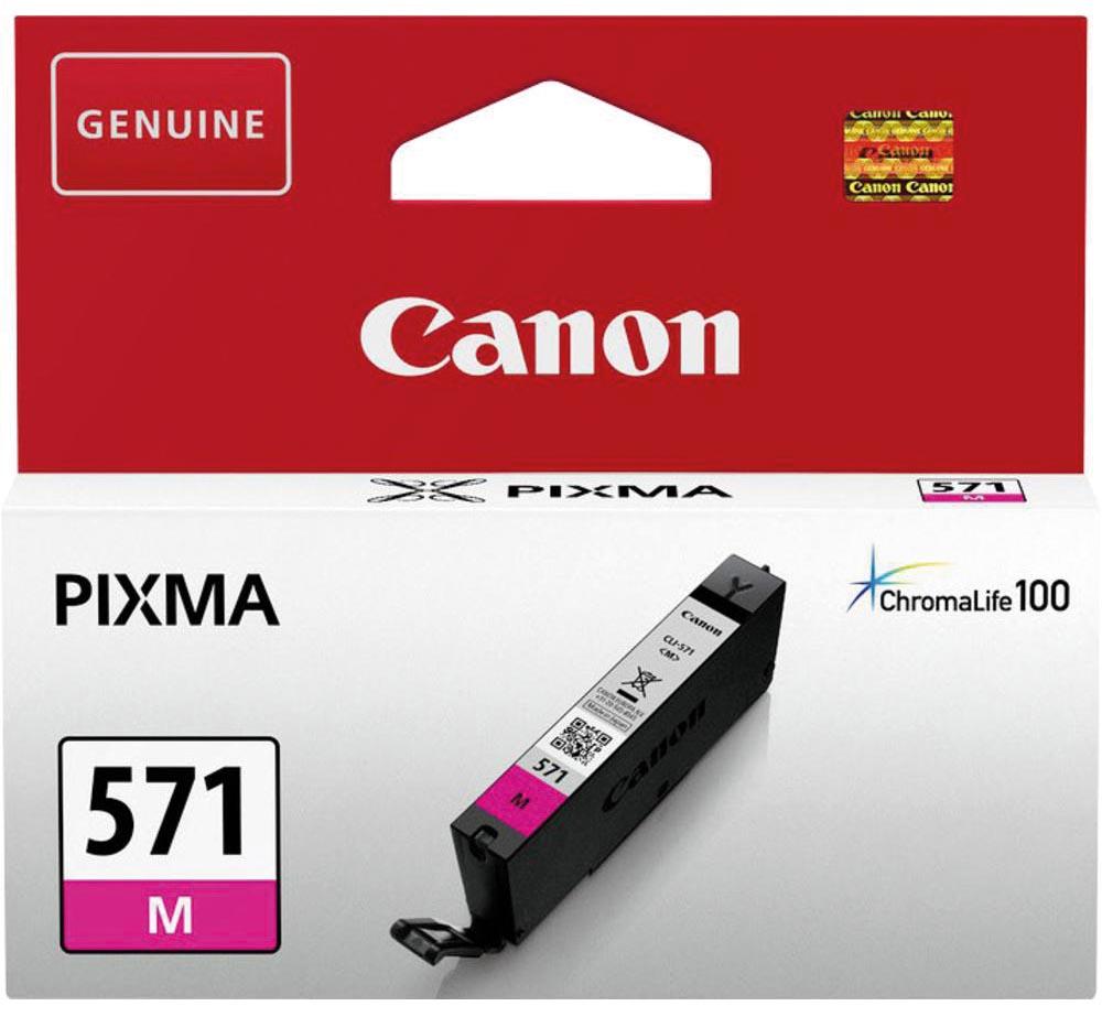 Canon inktcartridge CLI-571M, 345 pagina's, OEM 0387C001, magenta
