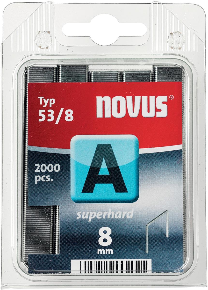 Novus nietjes A 53/8 Super Hard, doos met 2000 nietjes