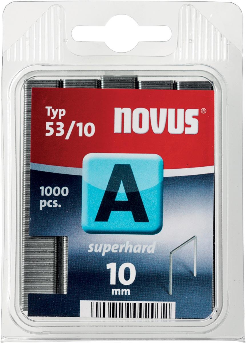 Novus nietjes A 53/10 Super Hard, doos met 1000 nietjes
