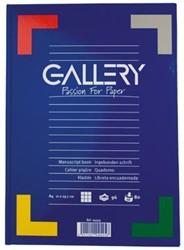 Gallery notitieboek harde kaft, ft A4, geruit 5 mm, 192 bladzijden