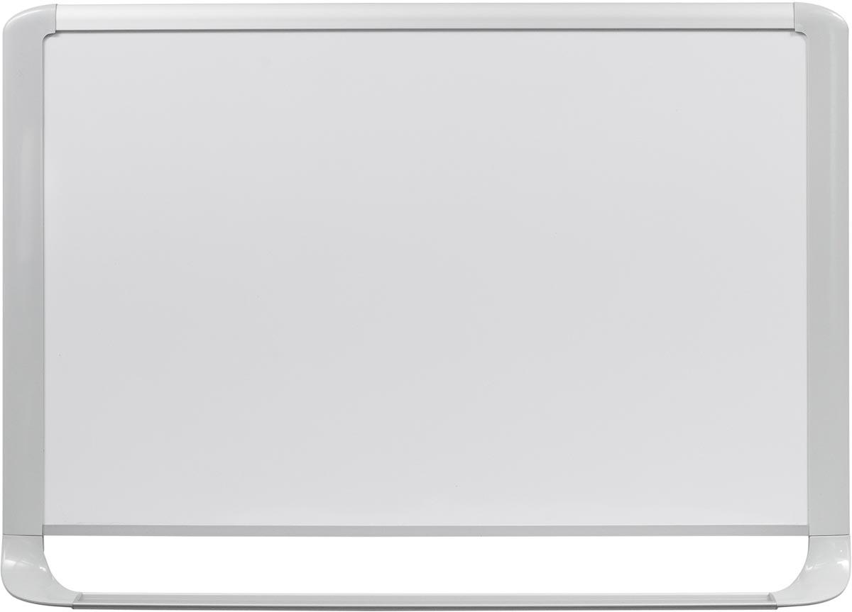 Bi-Office MasterVision emaille whiteboard met lichtgrijze kader ft 120 x 90 cm