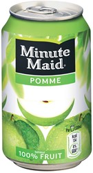 Minute Maid Appel vruchtensap, blik van 33 cl, pak van 24 stuks