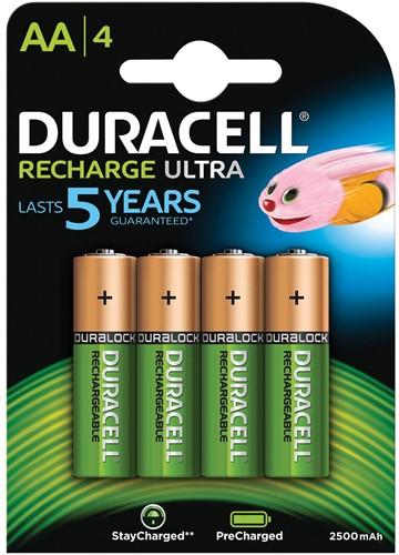 Duracell oplaadbare batterijen Recharge Ultra AA, blister van 4 stuks-2