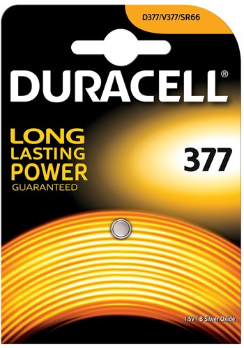 Duracell knoopcel Duralock 377, op blister