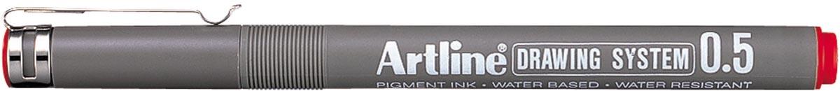 Artline Fineliner 0,5 mm, rood