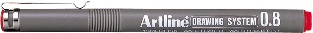 Artline Fineliner 0,8 mm, rood