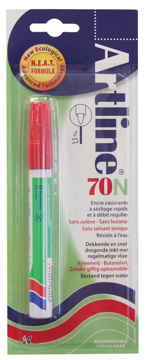 Permanent marker Artline 70 rood (op blister)