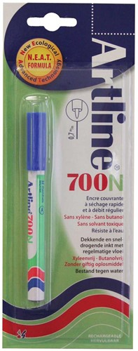 Permanent marker Artline 700 blauw (op blister)
