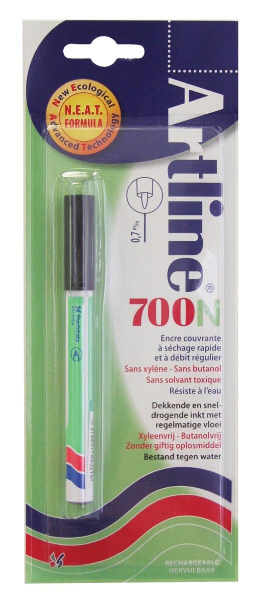 Permanent marker Artline 700 zwart (op blister)