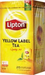 Lipton thee, Yellow Label, Squeezable, doos van 25 zakjes