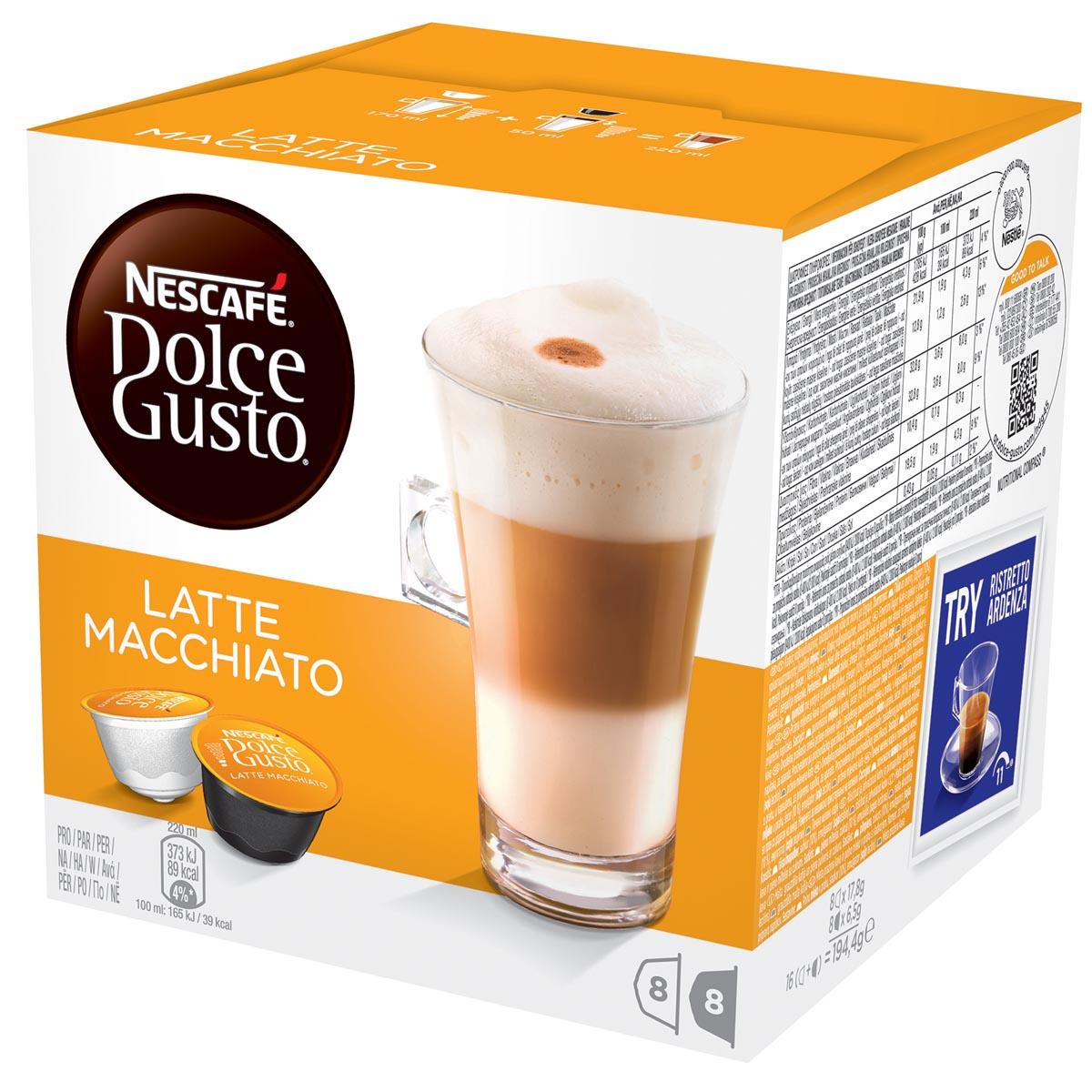Nescafé Dolce Gusto koffiepads, Latte Macchiato, pak van 16 stuks