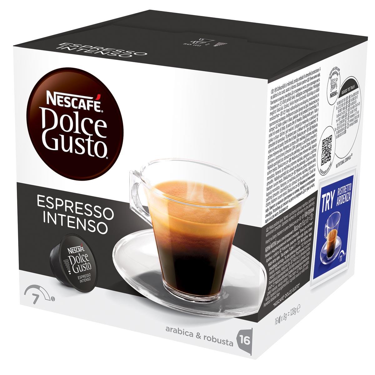 Nescafé Dolce Gusto koffiepads, Espresso Intenso, pak van 16 stuks