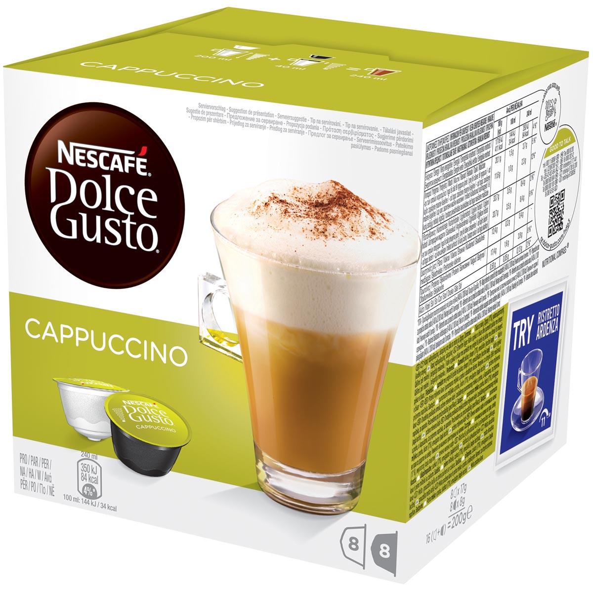 Nescafé Dolce Gusto koffiepads, Cappucino, pak van 16 stuks