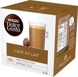Nescafé Dolce Gusto koffiepads, Café au lait, pak van 16 stuks