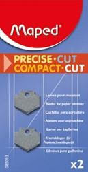 Maped reservemessen voor Compact Cut A4, blister met 2 vervangmesjes