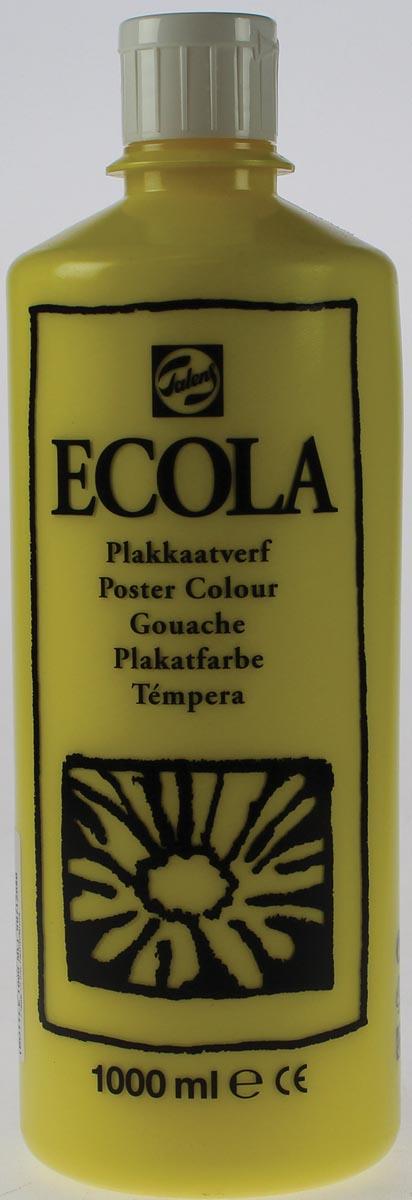 Talens Ecola plakkaatverf flacon van 1000 ml, citroengeel