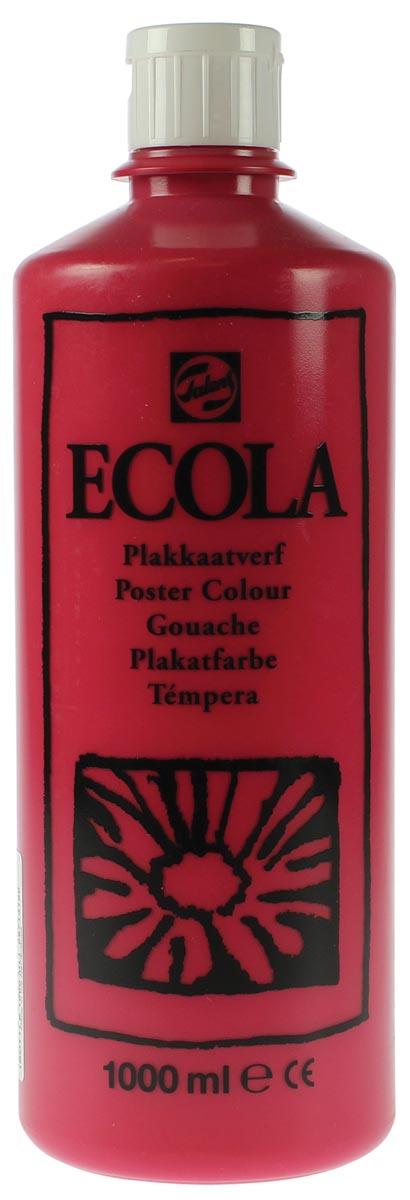 Talens Ecola plakkaatverf flacon van 1000 ml, karmijn