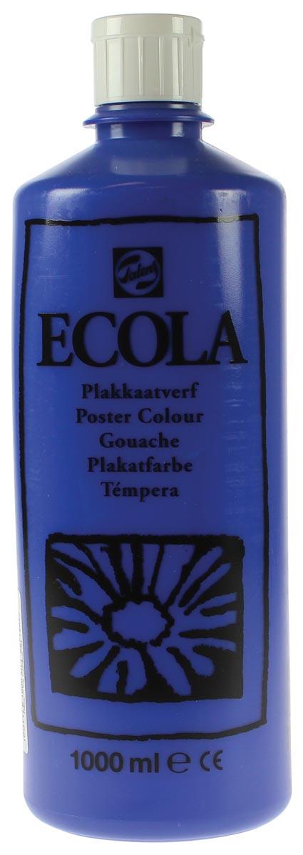 Talens Ecola plakkaatverf flacon van 1000 ml, donkerblauw
