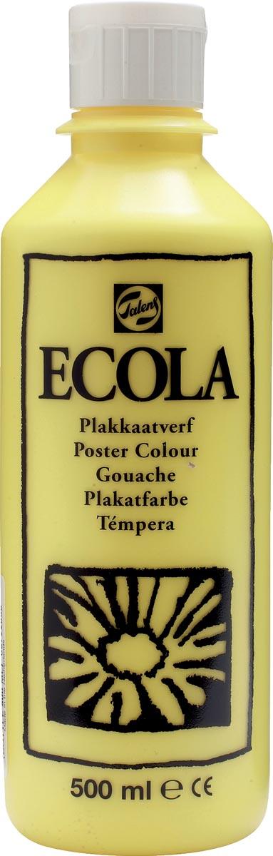 Talens Ecola plakkaatverf flacon van 500 ml, citroengeel