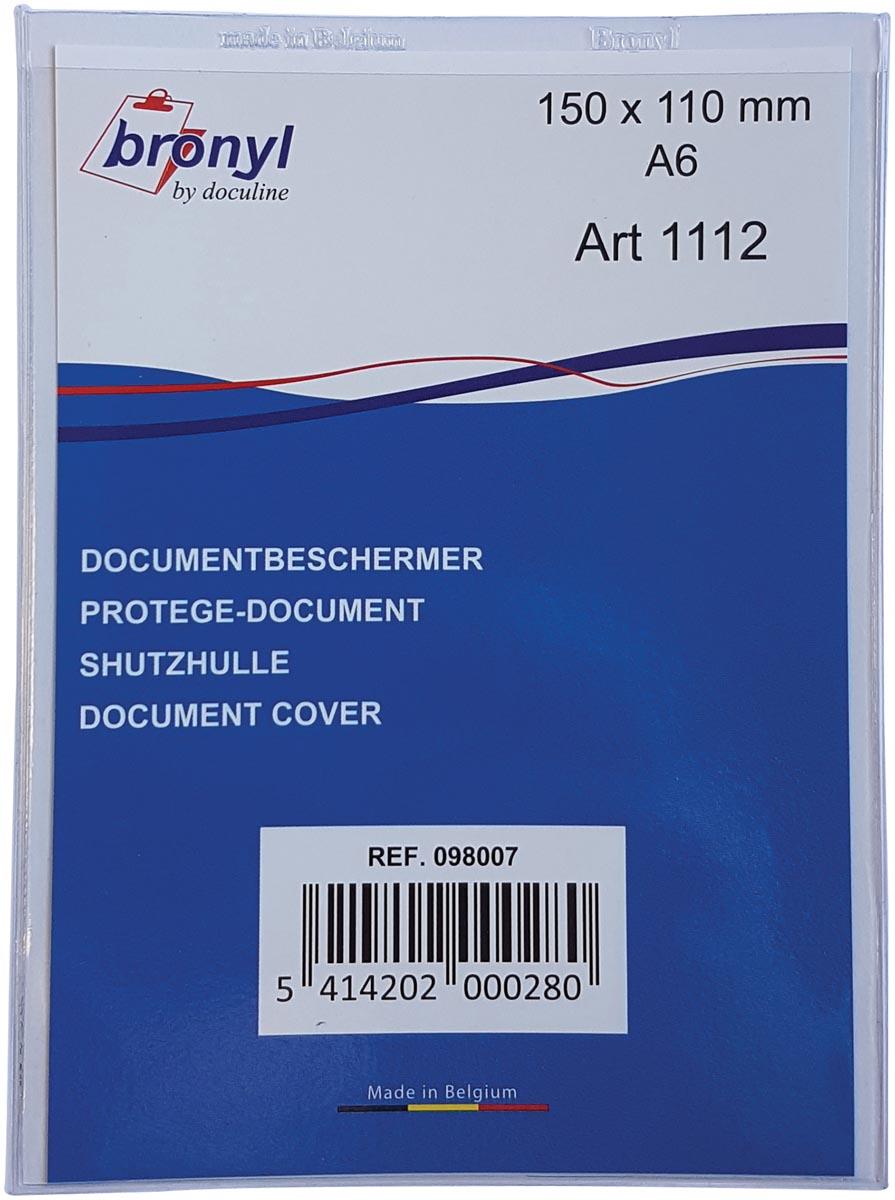 Bronyl U-mapje uit transparante PVC van 180 micron, ft A6