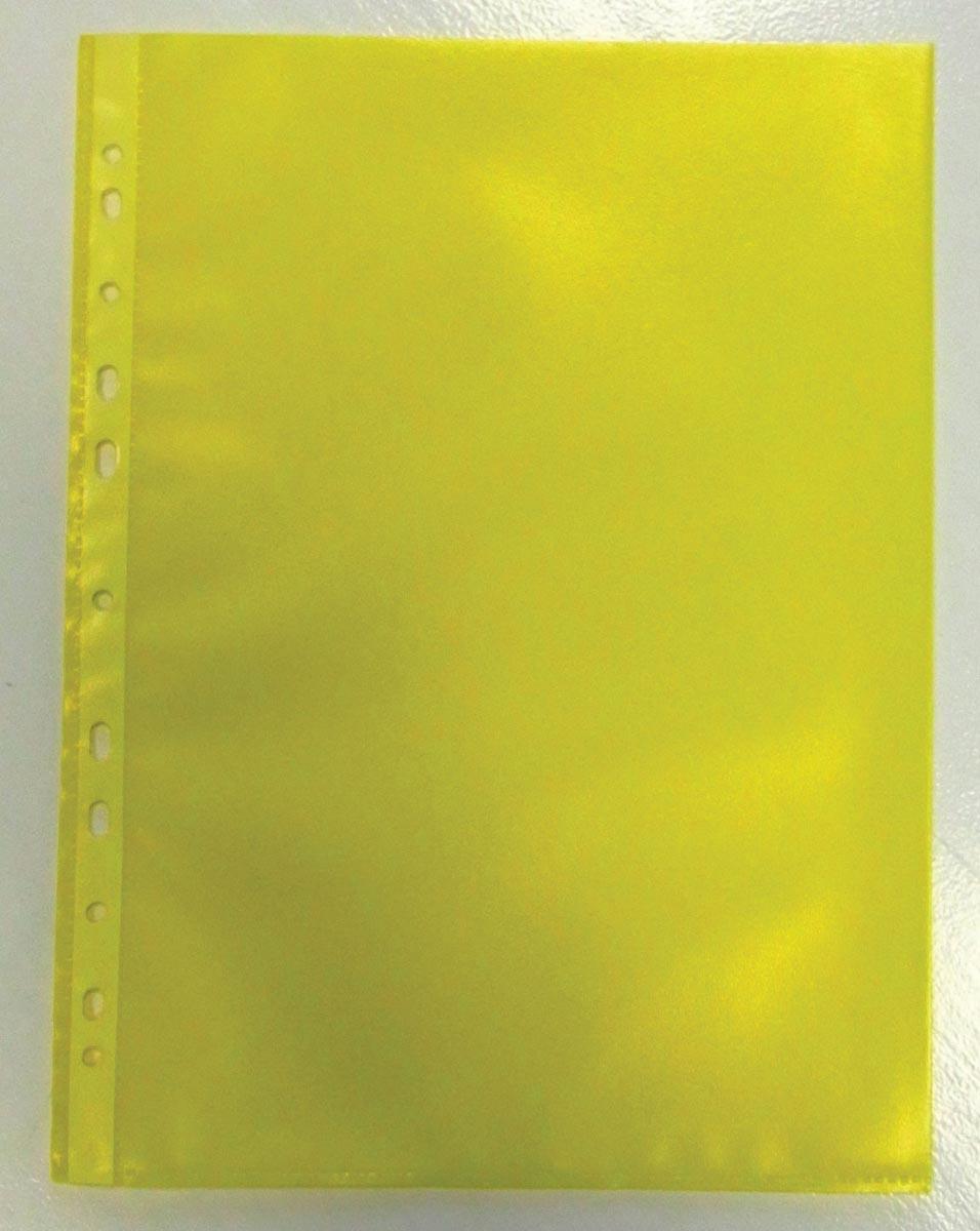 Geperforeerde showtas geel A4 pak 50 stuks