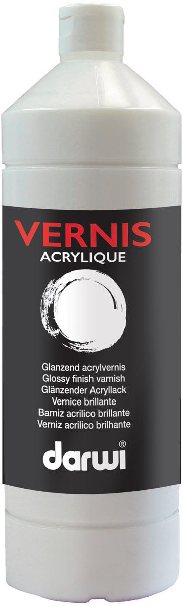 Darwi acrylvernis glanzend, flacon van 1000 ml