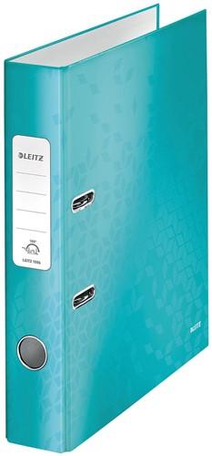 Leitz WOW ordner ijsblauw, rug van 5 cm