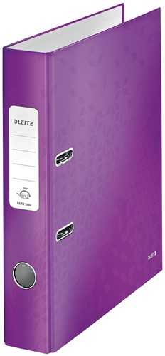 Leitz WOW ordner paars, rug van 5 cm