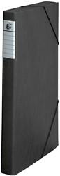 5 Star elastobox Heavy Duty A4, rug van 3 cm, zwart