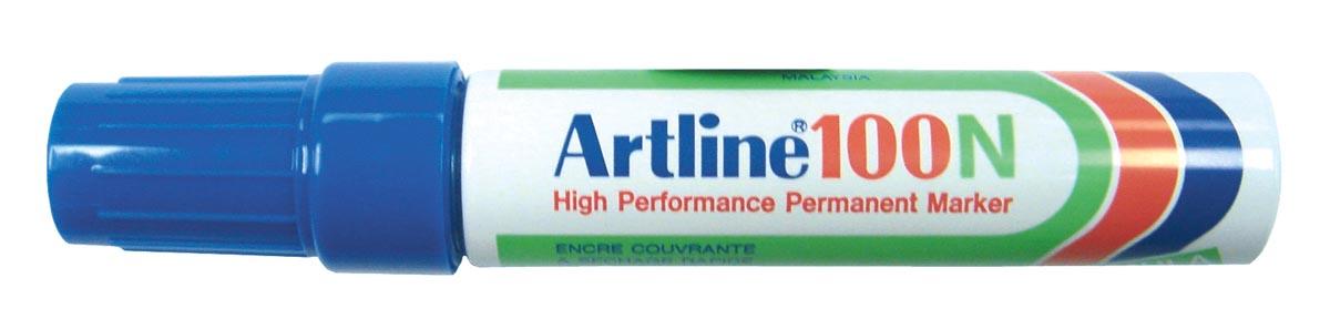 Viltstift Artline 100 schuin blauw 4-12mm