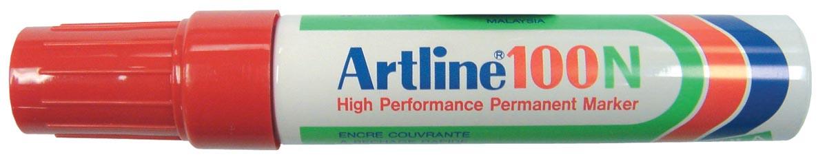 Viltstift Artline 100 schuin rood 4-12mm