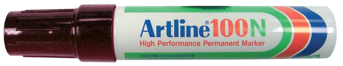 Viltstift Artline 100 schuin zwart 4-12mm