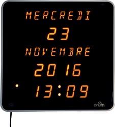 Orium by CEP LED klok met voluit geschreven data, ft 28 x 28 x 4,2 cm