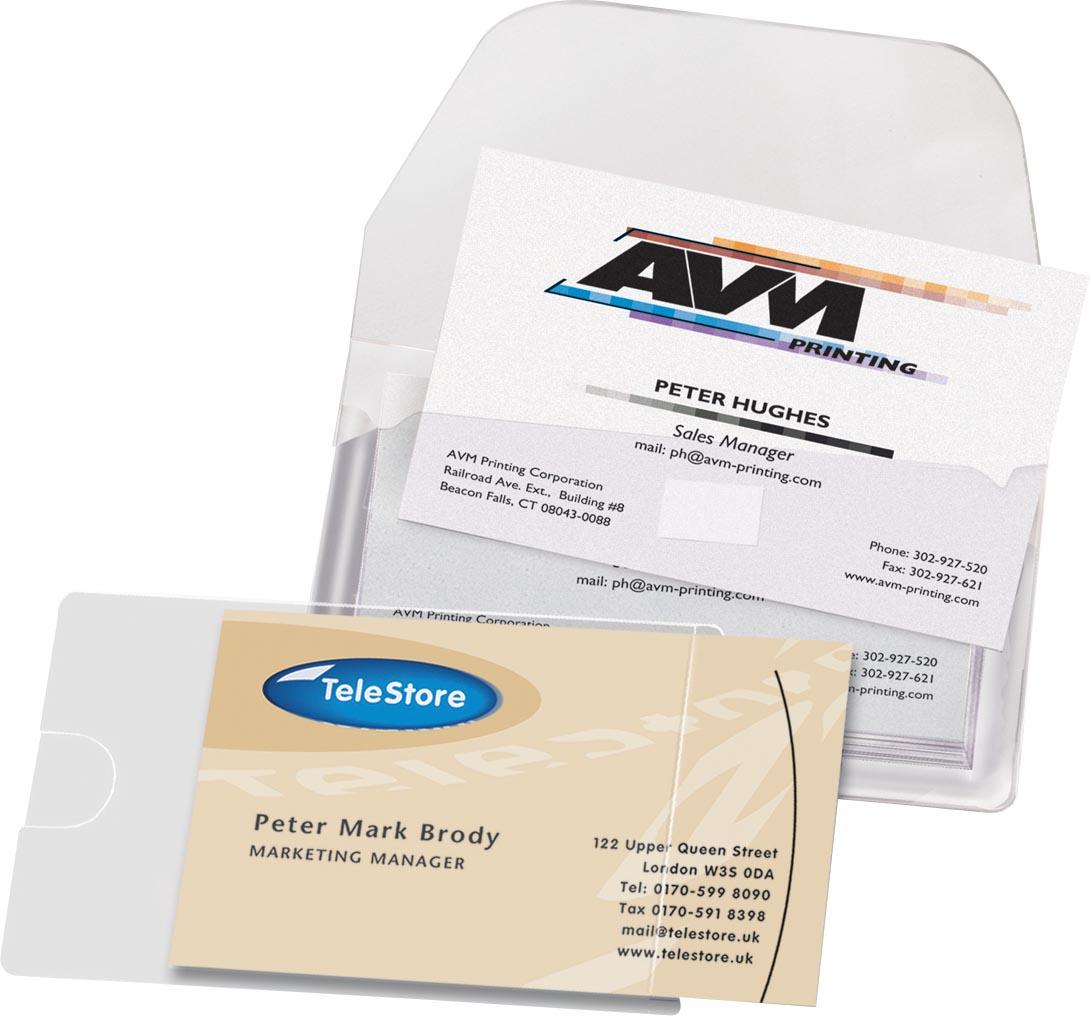3L Business Card Pocket ft 60 x 95 mm, open aan de korte zijde (etui van 10 stuks)