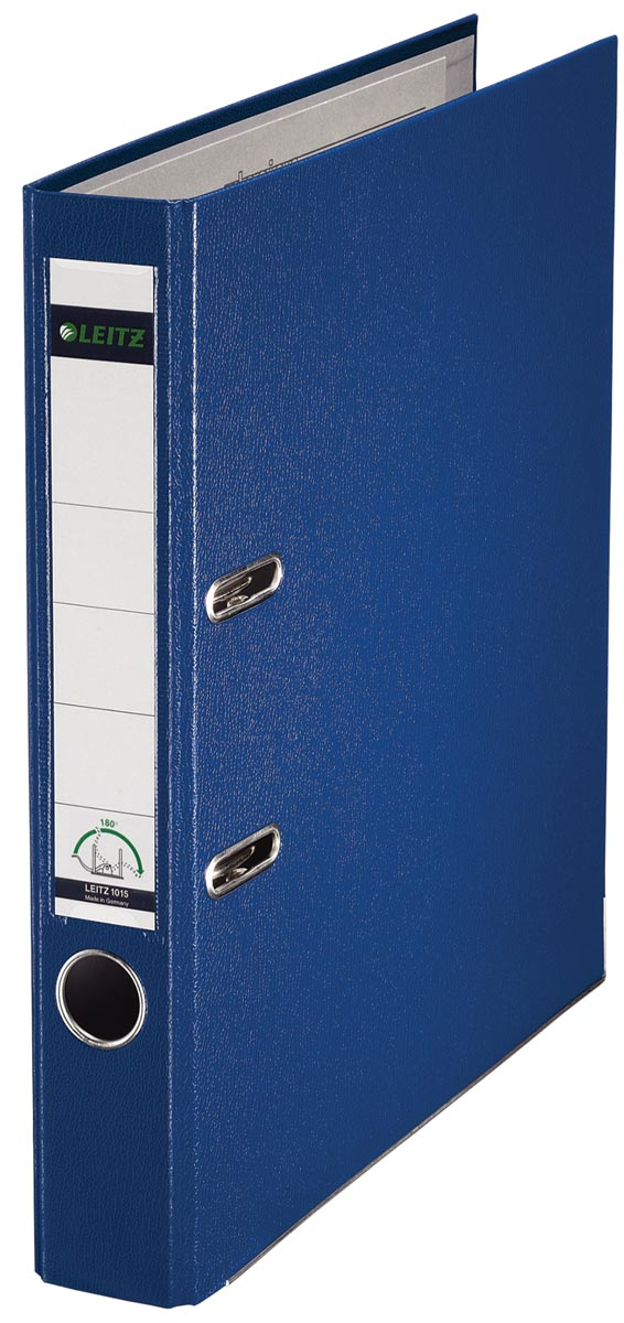 Leitz ordner blauw, rug van 5 cm