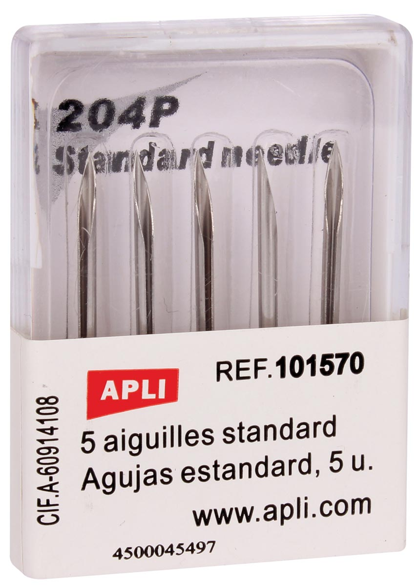 Apli naalden voor standaard textielpistool, doos van 5 stuks