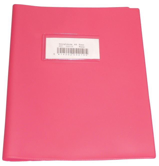 schriftomslagen roze, ft schrift 16,5 x 21 cm