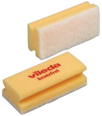 Vileda spons Glitzi Quattro, geel, pak van 10 stuks