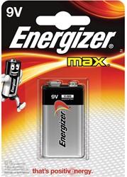 Energizer batterij Max 9V, op blister