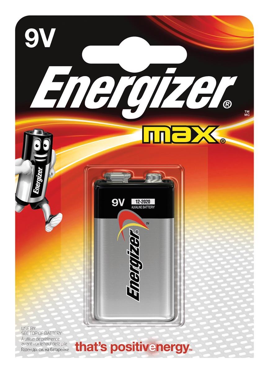 Energizer Max 6LR61 9 V batterij (blok) Alkali-mangaan 9 V 1 stuks