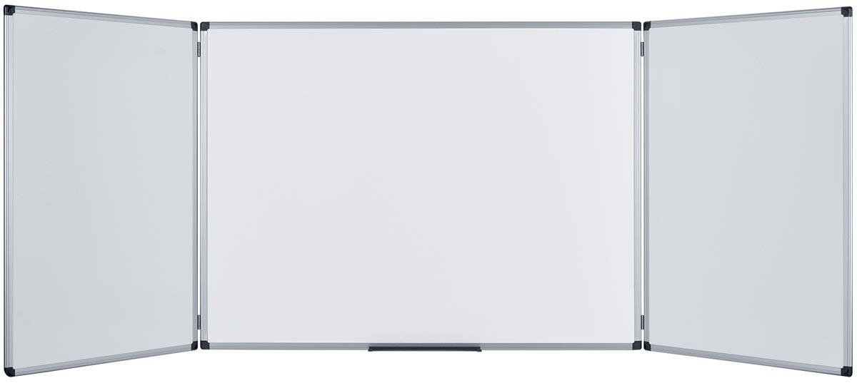 5 Star emaille whiteboard trio ft 90 x 60 cm (gesloten), zijborden 60 cm