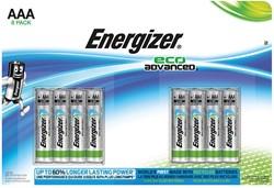 Energizer batterijen Eco Advanced AAA, blister van 8 stuks