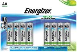 Energizer batterijen Eco Advanced AA, blister van 8 stuks