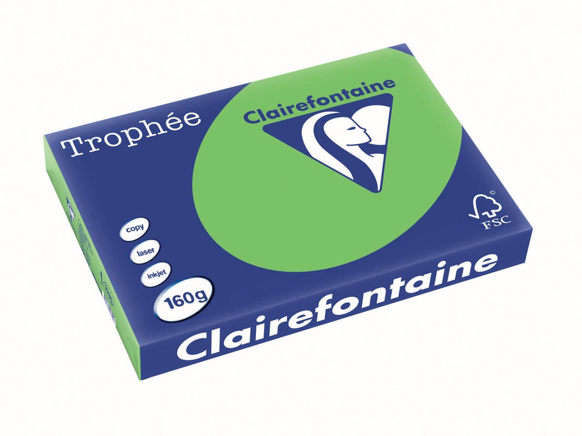 Clairefontaine Troph�e Intens A3 grasgroen, 160 g, 250 vel