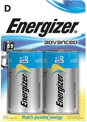 Energizer batterijen Advanced D, blister van 2 stuks
