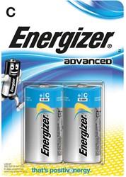 Energizer batterijen Advanced C, blister van 2 stuks