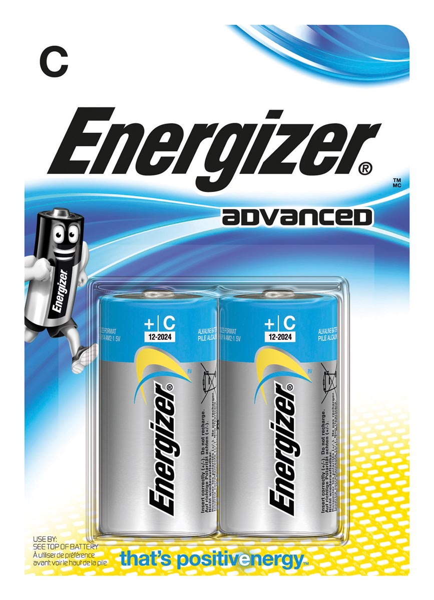 Energizer Batterijen C Advanced 2 Stuks