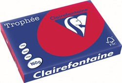 Clairefontaine Trophée Intens A3 kersenrood, 160 g, 250 vel